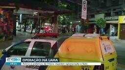 Operação dispersa aglomerações na Rua da Lama, em Vitória