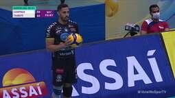 João Rafael muda o jogo, e Taubaté vence o 1º set contra o Campinas na Superliga