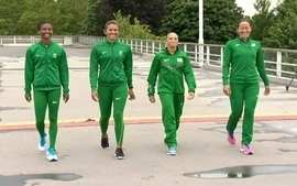 Equipe brasileira feminina do revezamento 4x400m fez primeiro treinamento em Londres