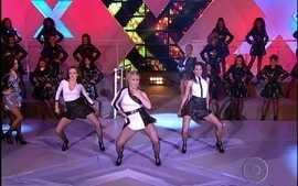 Trios levam o público à loucura com concurso de dança