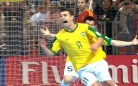Os gols de Brasil 3 x 2 Espanha pela final Copa do Mundo de Futsal