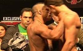 Em dia de pesagem no UFC, Vtor Belfort provoca Rockhold