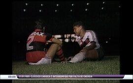 'Túnel do tempo': em 1989, clássico entre Vasco e Flamengo é interrompido por falta de luz