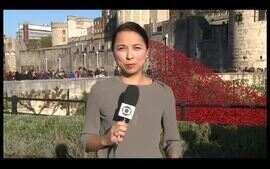 Broches relembram fim da Primeira Guerra. Confira no 'Boletim Globo Notícia Europa'