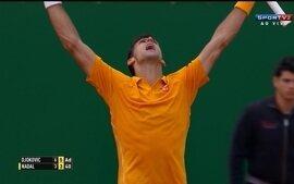 Os pontos finais de Novak Djokovic 2 x 0 Rafael Nadal pelo Masters 1000 de Monte Carlo