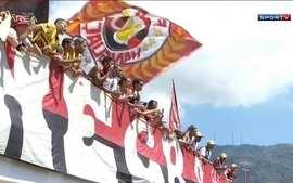 No último treino antes de encarar o Vasco, torcida marca presença e apoia o Flamengo