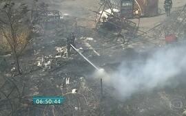 Liga diz acreditar que incêndio em carros alegóricos foi criminoso