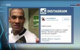 Jogadores do Vasco agradecem e convocam torcida em vídeo no Instagram