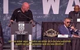 McGregor diz que ficará com dois cinturões, mas Dana fala que não há essa possibilidade