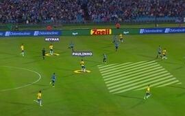 No detalhe: reveja o lance do gol do Paulinho e a arrancada do Neymar no início do jogo