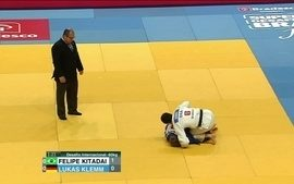 Felipe Kitadai vence Lukas Klemm no desafio internacional de judô