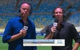 """Caio Ribeiro avalia gramado do Maracanã antes da final: """"Perfeito"""""""