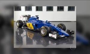 Sauber divulga novo carro do brasileiro Felipe Nasr