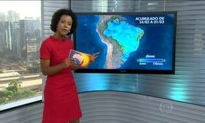 Terça-feira (24) será de chuva forte em parte do norte do país