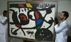 Quadro de Duque atribuído a Miró é gravura e vale menos que o estimado