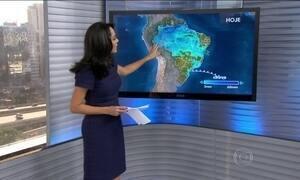 Nuvens de chuva continuam fortes entre a Bahia e o Norte do país