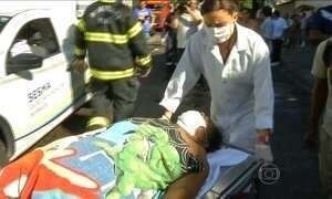 Pacientes são retirados de hospital após incêndio