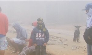 Incêndio em lixão de Lambari cobre a cidade de fumaça