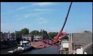 Queda de guindaste deixa pelo menos 20 feridos na Holanda