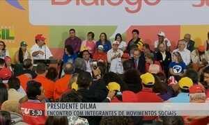 Dilma Rousseff volta a se reunir com integrantes de movimentos sociais