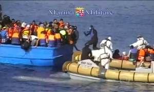 Imigrantes morrem ao tentar cruzar o Mar Mediterrâneo rumo à Europa