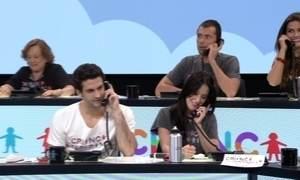 Artistas da Rede Globo participam das ligações para o Criança Esperança