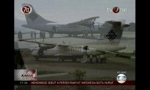 Avião com 54 pessoas a bordo bate em montanha na Indonésia