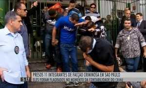 Polícia prende 11 integrantes de facão criminosa em SP