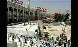 Ventos fortes causaram desabamento de guindaste que matou 107 em Meca