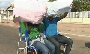 Alunos de Macapá vão para as ruas protestar contra calor nas escolas