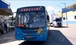 Motoristas de ônibus fazem paralisação na Grande Vitória
