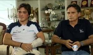 'Não lembro de nada', conta Pedro Piquet após acidente na pista