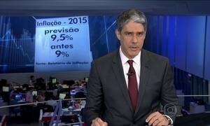 BC prevê que economia brasileira vai encolher 2,7% em 2015