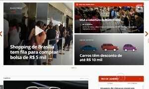 O G1, o Portal de Notícias da Globo, está renovado; confira