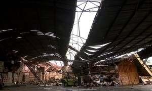 Ventos fortes de 122 km/h provocam estragos na cidade de Canoas (RS)