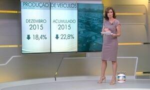 Produção de veículos cai 18,4%, diz Anfavea
