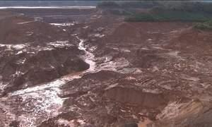 Samarco envia alerta por causa da movimentação de rejeito de minério em Mariana (MG)