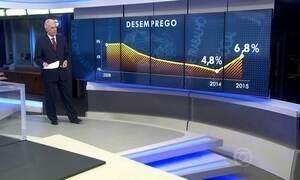 Taxa de desemprego subiu em seis regiões metropolitanas em 2015
