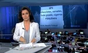 Impostos de chocolates, sorvetes, fumo, cigarros e rações vão aumentar