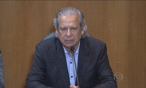 José Dirceu depõe e admite erros, mas nega ter recebido propina