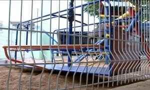 Crianças ficam feridas em brinquedo instalado em escola no interior de SP