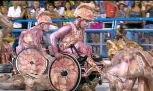 União da Ilha do Governador exalta Rio Olímpico e mostra cadeirante acrobata