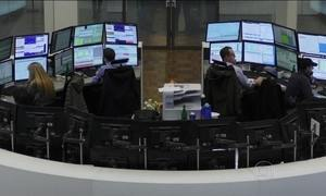 Mercado financeiro internacional vive semana difícil com bolsas em queda