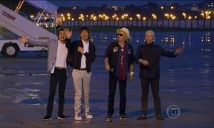Rolling Stones chegam ao Brasil para se apresentar após 10 anos
