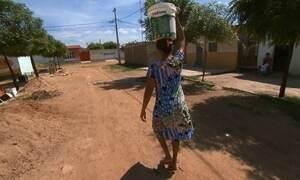 Água é desviada, enquanto fazendas brotam verdes na seca do Nordeste