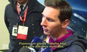 Messi elogia atuação do Barça contra o Arsenal, e fala em vencer tudo esse ano
