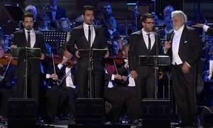 Trio italiano 'Il Volo' divide o palco com tenor espanhol