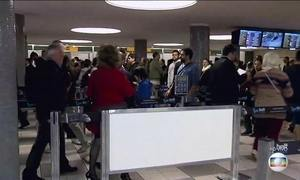 Passageiros voltam a enfrentar filas nos aeroportos
