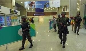 Esquema completo de segurança para a Olimpíada começa a funcionar