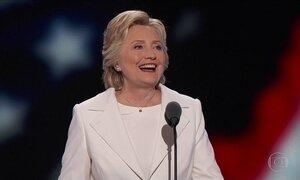 Hillary é consagrada candidata democrata à presidência